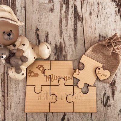 Annonce grossesse puzzle personnalisé